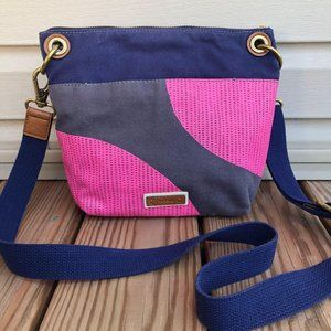 Fossil Canvas Pink Dotted Keely Crossbody Bag